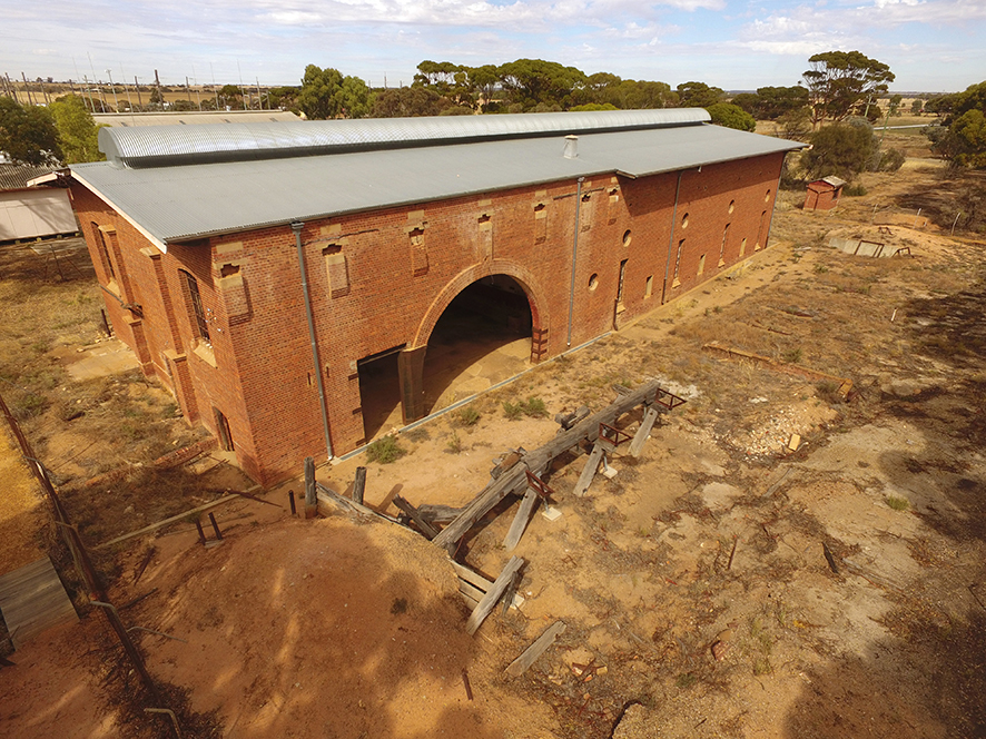 The No. 4 pumping station at Merredin, part of the Golden Pipeline